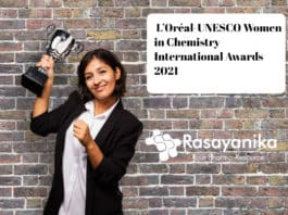 L'Oréal-UNESCO Women in Chemistry International Awards 2020 - 21