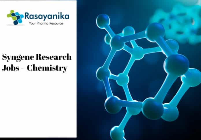 Syngene Research Jobs - Polymer Chemistry/Organic Chemistry
