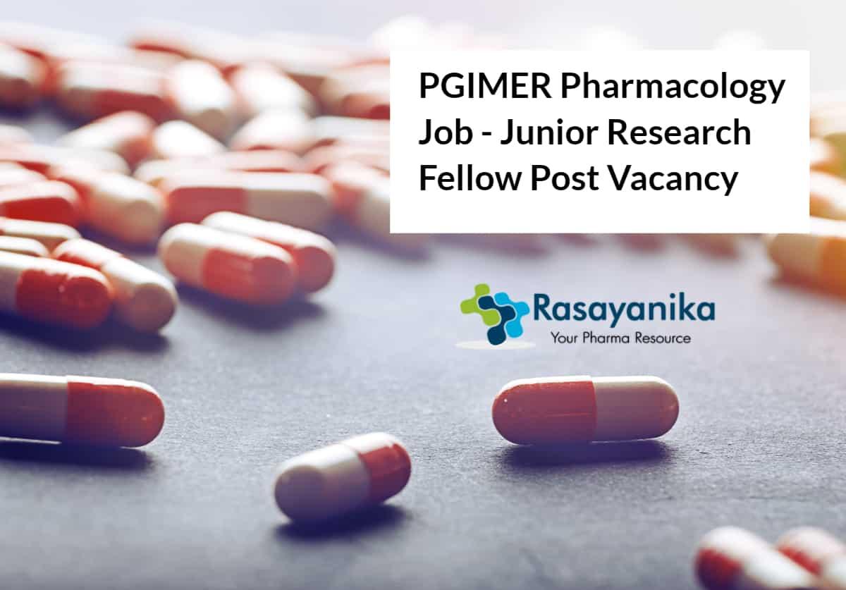 PGIMER Pharmacology Job - Junior Research Fellow Post Vacancy