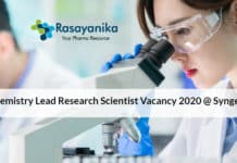 Chemistry Lead Research Scientist Vacancy 2020 @ Syngenta