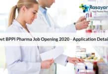 Govt BPPI Pharma Job Opening 2020 - Application Details