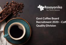 Govt Coffee Board Recruitment 2020 – Coffee Quality Division