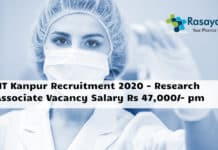 IIT Kanpur Recruitment 2020 - Research Associate Vacancy Salary Rs 47,000/- pm