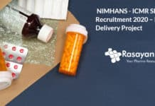 NIMHANS - ICMR SRF Recruitment 2020 – Drug Delivery Project