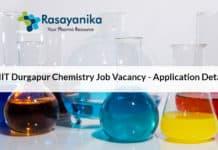 NIT Durgapur Chemistry Job Vacancy - Application Details