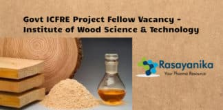 Govt ICFRE Research Fellow Vacancy - Institute of Wood Science Technology