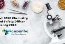Govt OSSC Chemistry Food Safety Officer Vacancy 2020