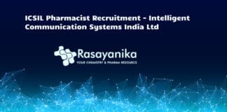 ICSIL Pharmacist Recruitment - Intelligent Communication Systems India Ltd