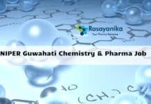 NIPER Guwahati Chemistry & Pharma Job : Associate Professor & RA Salary 47,000/- pm + 16% HRA