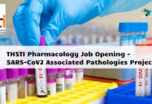 THSTI Pharmacology Job Opening - SARS-CoV2 Associated Pathologies Project