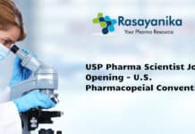 USP Pharma Scientist Job Opening - U.S. Pharmacopeial Convention