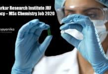 Agharkar Research Institute JRF Vacancy – MSc Chemistry Job 2020