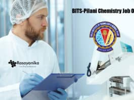 BITS-Pilani Recruitment 2020 - Chemistry Job Opening