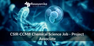 CSIR-CCMB Chemical Science Job - Project Associate