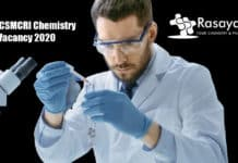 CSIR-CSMCRI Chemistry Vacancy 2020 - Applications Invited