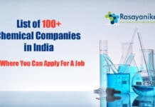 Chemical Science Companies In India