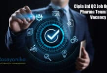 Cipla Ltd QC Job Opening - Pharma Team Lead Vacancy