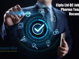 Cipla Ltd QC Job Opening - Pharma Team Lead Vacancy