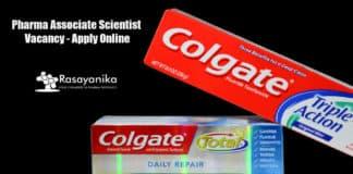 Colgate Pharma Associate Scientist Vacancy - Apply Online
