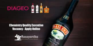 Diageo Chemistry Quality Executive Vacancy - Apply Online