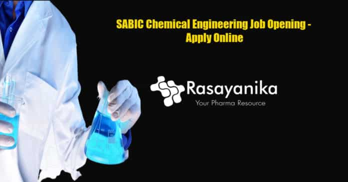 SABIC Chemical Engineering Job Opening - Apply Online
