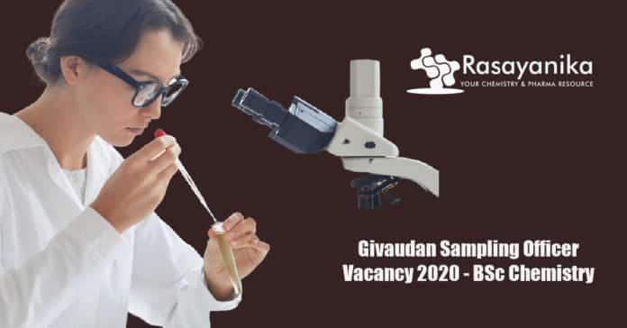 Givaudan Sampling Officer Vacancy 2020 - BSc Chemistry