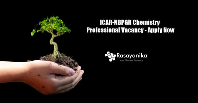 ICAR-NBPGR Chemistry Professional Vacancy - Apply Now