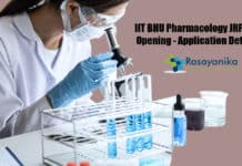 IIT BHU Pharmacology JRF Job Opening - Application Details