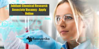 Jubilant Chemical Research Associate Vacancy - Apply Online