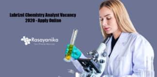 Lubrizol Chemistry Analyst Vacancy 2020 - Apply Online
