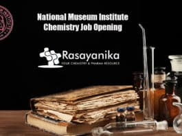 National Museum Institute Chemistry Job Opening - Applications Invited