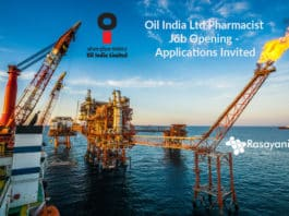 Oil India Ltd Pharmacist Job Opening - Applications Invited