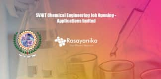 SVNIT Chemical Engineering Job Opening - Applications Invited