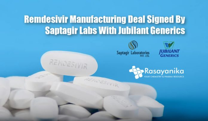 Saptagir Labs & Jubilant Generics Collaborate