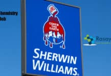 Sherwin Williams MSc Chemistry Job - Operations Team Leader