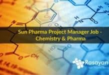 Sun Pharma Project Manager Job - Chemistry & Pharma