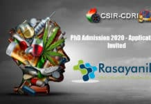 CSIR-CDRI PhD Admission 2020 - Applications Invited