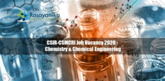 CSIR-CSMCRI Job Vacancy 2020 - Chemistry & Chemical Engineering