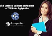 CSIR Chemical Sciences Recruitment at TKDL Unit – Apply Online