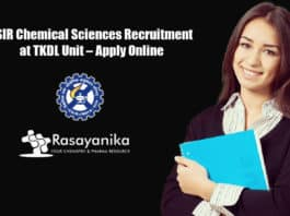 CSIR Chemical Sciences Recruitment at TKDL Unit – Apply Online