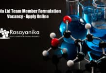Cipla Ltd Team Member Formulation Vacancy - Apply Online