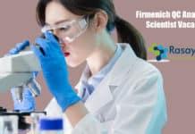 Firmenich QC Analytical Scientist Vacancy - Apply Online