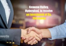 Genome Valley, Hyderabad, to receive an investment of Rs. 700 crores, from pharma companies.