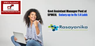 Govt Assistant Manager Post at SPMCIL - Salary up to Rs 1.4 Lakh