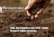 ICAR- IISS Chemistry Jobs 2020 – Senior Research Fellow Vacancies