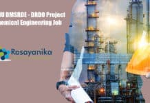 IIT BHU DMSRDE - DRDO Project - Chemical Engineering Job