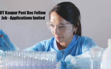 IIT Kanpur Post Doc Fellow Job - Applications Invited
