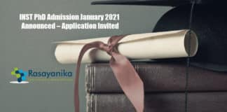 INST PhD Admission January 2021 Announced – Application Invited