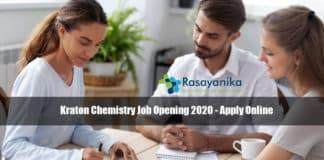 Kraton Chemistry Job Opening 2020 - Apply Online