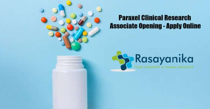 Paraxel Clinical Research Associate Opening - Apply Online